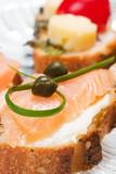 delicious salmon canape poster