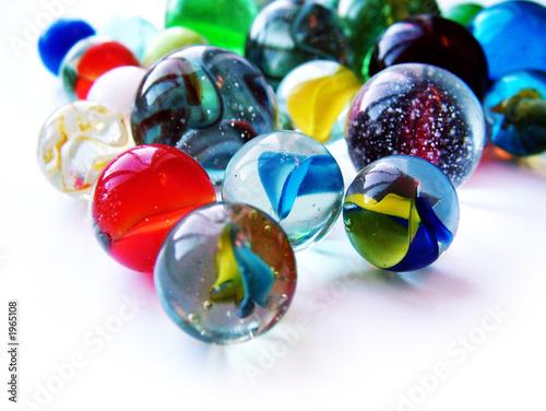 Leinwanddruck Bild marbles
