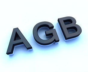 agb 3d sign