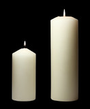 simple white candles poster