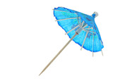 asian cocktail umbrella - pure white background poster