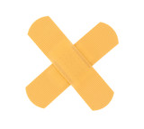 bandaid cross on pure white background poster