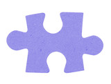 puzzle piece on pure white background poster