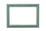 turquoise ornamented wooden frame poster