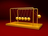 gold newton's cradle