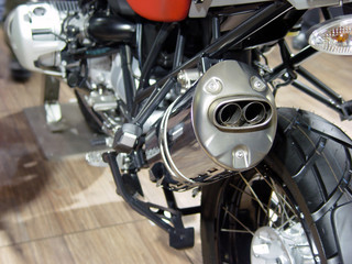 motorcycle exhaust detail