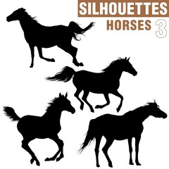 horses silhouettes 3