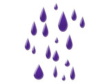 raindrop art poster