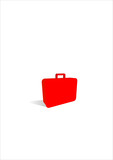 suitcase icon poster