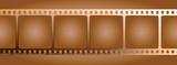 brown film outline poster