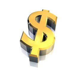 simbolo del dollaro a fondo bianco