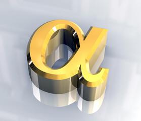 simbolo alfa in oro