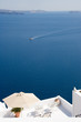 santorin - vue reposante sur la mer egee