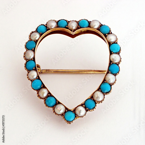 antique heart brooch