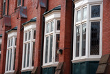 bow windows with leaded glass poster