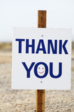 thank you sign poster
