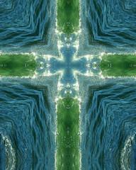 green wave cross