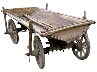 old ukrainian cart