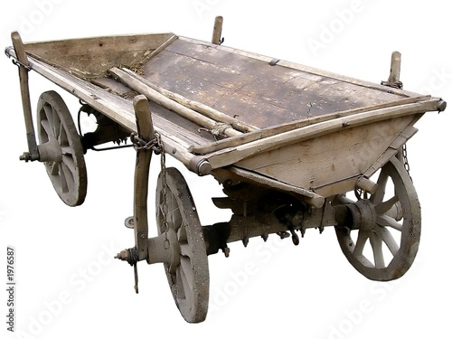 old ukrainian cart