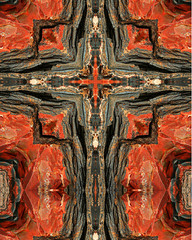 petrified wood cross4