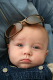 baby boy with sunglasses poster