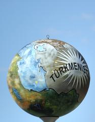 globe of turkmenistan
