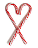 outlined heart candycane poster