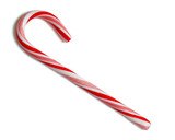 outlined single candycane poster
