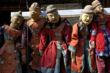 myanmar, mandalay: handicraft, marionette