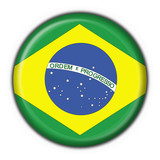 bottone bandiera brasiliana - brazil flag