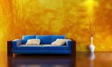 sofa 3d rendering poster