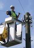 telephone repair man poster