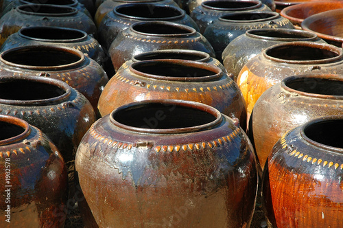 myanmar, bagan: pottery of myanmar