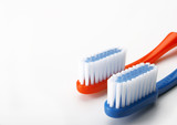 two toothbrushes poster