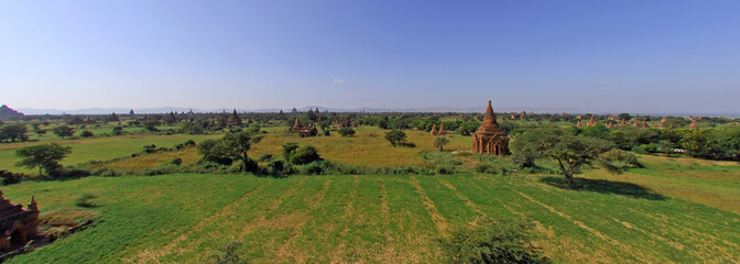 myanmar, bagan: general panorama