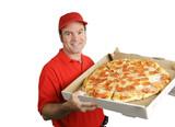 fresh hot pizza delivered poster