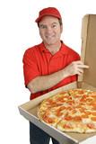 fresh pizza delivered poster