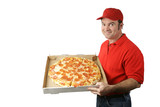 pizza man delivers poster