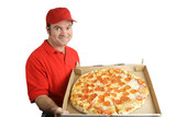 pepperoni pizza delivered poster