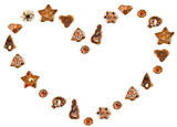 heart shape made of cookies poster