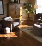 hardwood flooring in living room poster