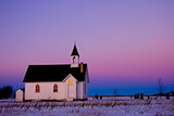 church in twilight poster