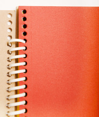 red spring notebook