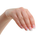 female manicured hand poster