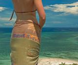 girl in sarong poster