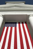 american flag and pillars poster