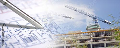Leinwanddruck Bild architecture, construction & édifice