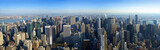 aerial panoramic view over manhattan, new york poster