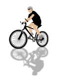 biker illustration poster
