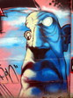 graffiti blue head